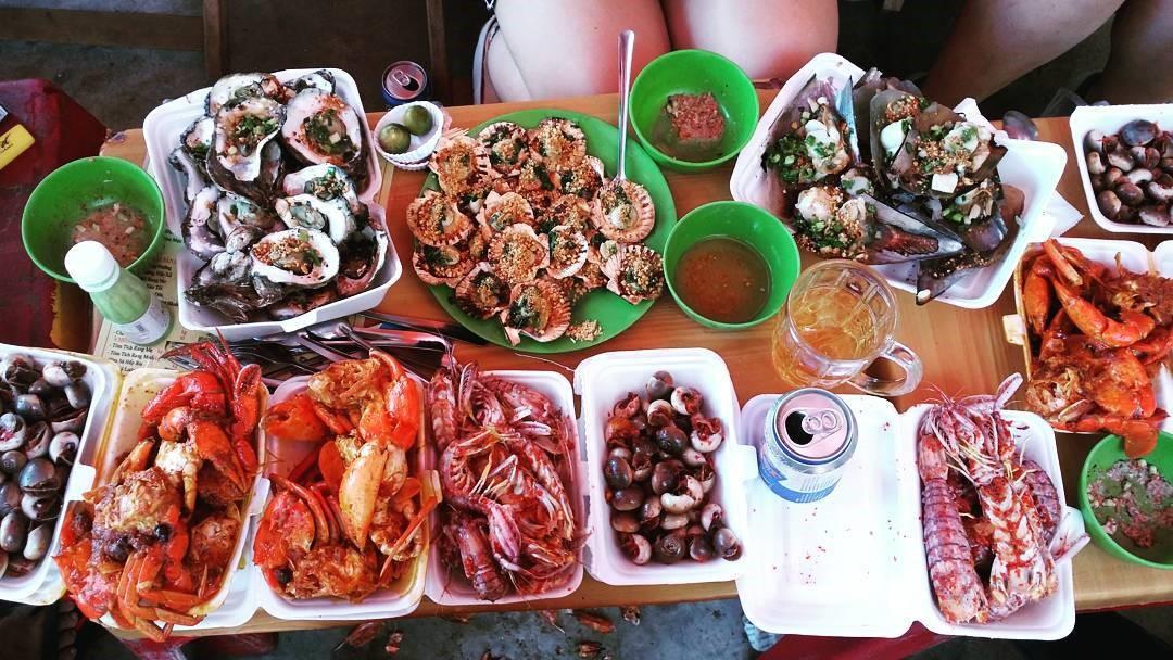 Đi Bãi tắm Tây Đô Thạnh Phú Bến Tre ăn hải sản tẹt ga