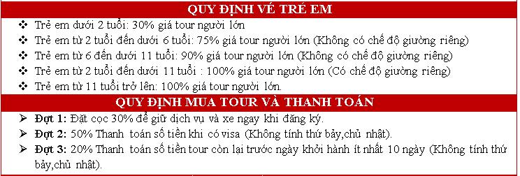 chi tiet tour